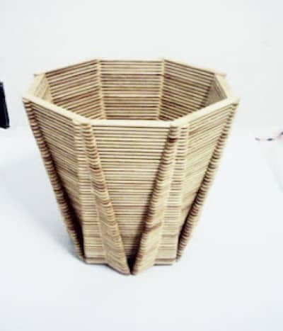 how to make a basket out of popsicle sticks