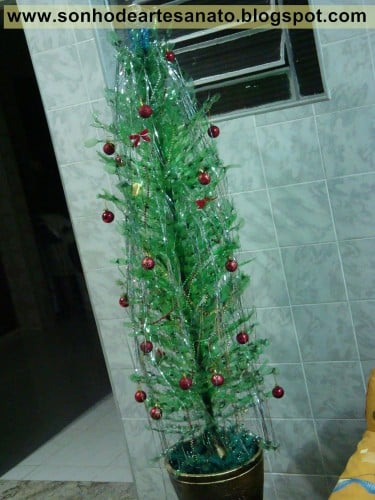 Esse modelo de árvore de Natal  é bem legal!(Foto: Divulgação).