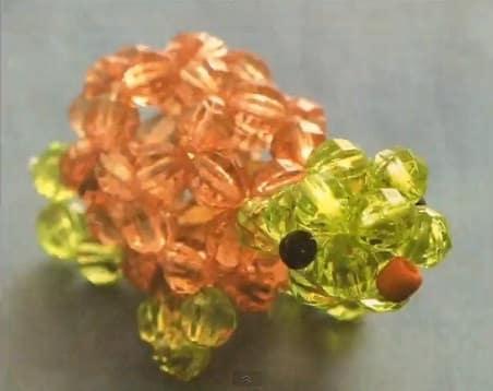 Tartaruga de miçangas(Fotos: Divulgação).