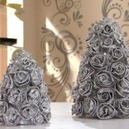Artesanato interessante de papel alumínio (Foto: Divulgação).