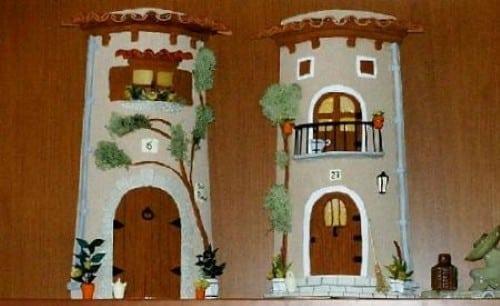 Mina de Artesanatos: Telhas decoradas