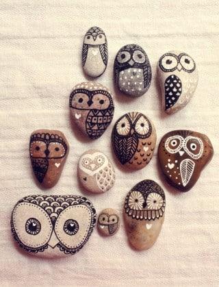 Pintura em pedras  (Foto:Divulgação).