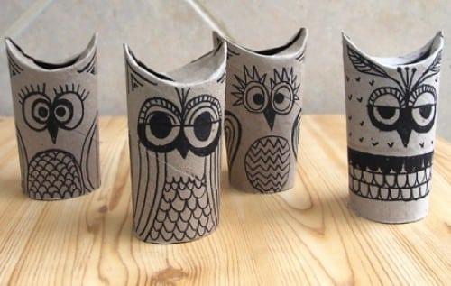 Artesanato com rolo de papel (Foto:Divulgação).