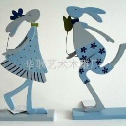 Para a páscoa faça coelhos em MDF (Foto:Divulgação).