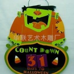 Decoração de MDF para o Halloween. (Foto:Divulgação).