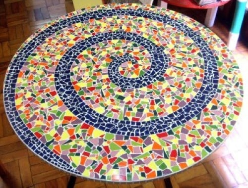 Como fazer artesanato com azulejos for Mosaicos para pisos exteriores