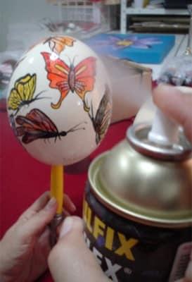 Como fazer ovo de avestruz decorado (Foto:divulgação).