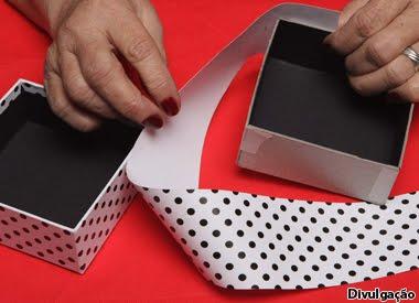Passo a passo caixa de papelão(Foto:Divulgação)