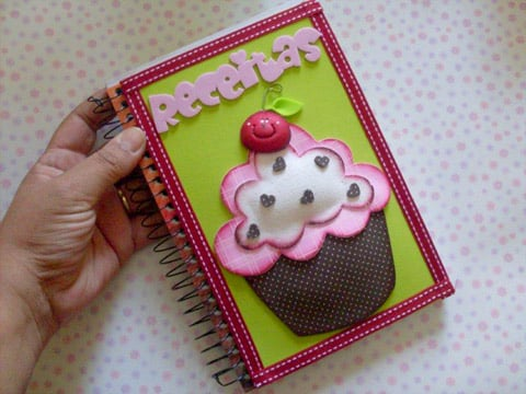 Este caderno de receita para dias das mães, por ser lindo é muito versátil, pois você pode presentear quem quiser (Foto: Divulgação)