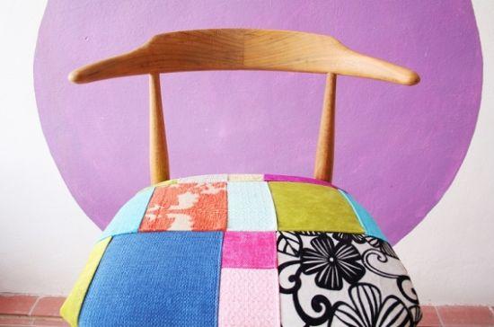 A cadeira forrada com patchwork deixa qualquer ambiente muito mais interessante e diferenciado (Foto: Divulgação)
