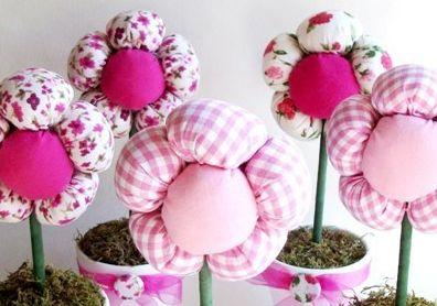 Como Fazer Vaso de Flores de Tecido