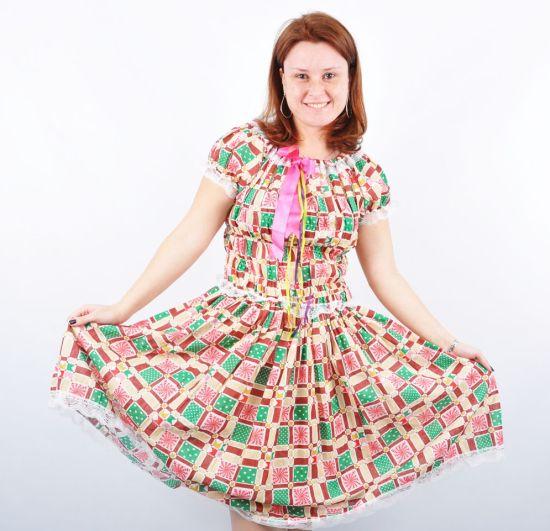 Como Fazer Vestido para Festa Junina 5 - Como fazer artesanatos 2157f6d13eb