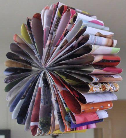 Este artesanato com revistas velhas é ótima opção de enfeite ou de atividade para você fazer com seus alunos (Foto: Divulgação)