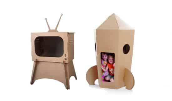 Os brinquedos com caixa de papelão podem ser tão divertidos quanto os brinquedos tradicionais (Foto: Divulgação)