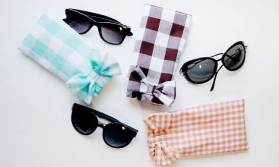Você pode até mesmo ter uma renda extra se começar a vender este porta-óculos de tecido (Foto: Divulgação)