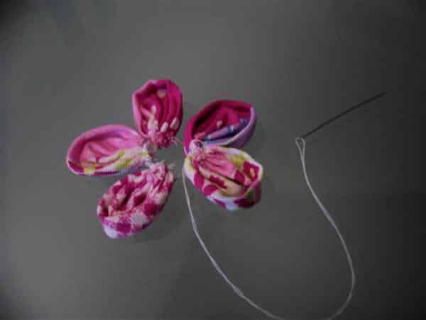 Passo A Passo Flor De Tecido Como Fazer Artesanatos