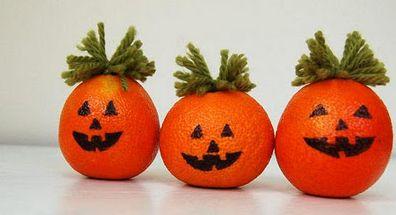 Estas miniabóboras de Halloween feitas com laranja deixarão sua festa ainda mais interessante (Foto: Divulgação)