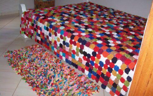 A colcha de fuxico deixará seu quarto muito mais diferenciado (Foto: Divulgação)