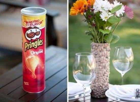 O artesanato com embalagem de Pringles é diferente, mas muito fácil de ser feito (Foto: Divulgação)