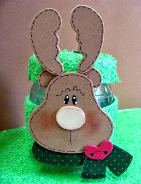 Este artesanato de Natal com EVA pode ser feito até mesmo com as crianças (Foto: Divulgação)