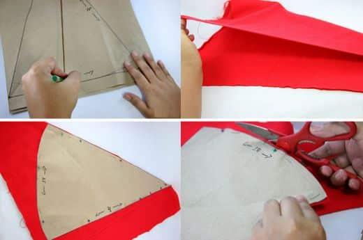 Como Fazer Gorro de Papai Noel de TNT 2695ccce80d