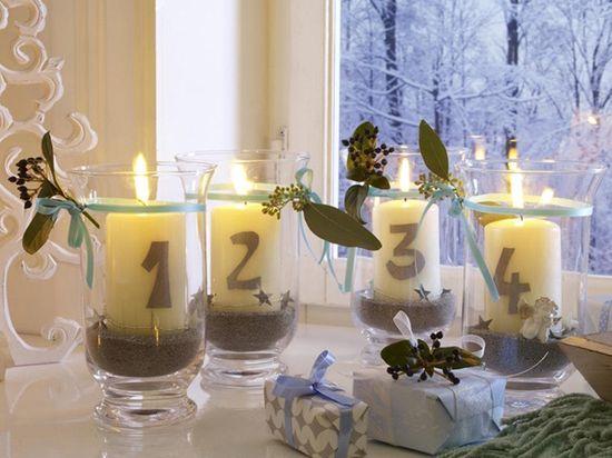 Estas velas para decoração de ano novo podem ser feitas com as cores de sua preferência   (Foto: Divulgação)