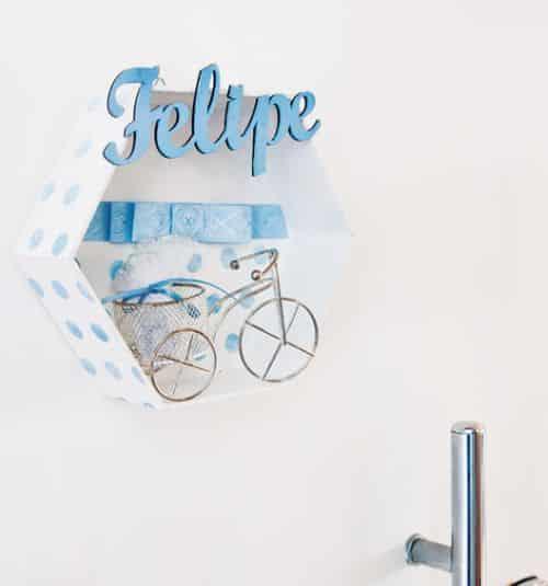 Este enfeite de porta maternidade é muito fácil de fazer (Foto: Divulgação)