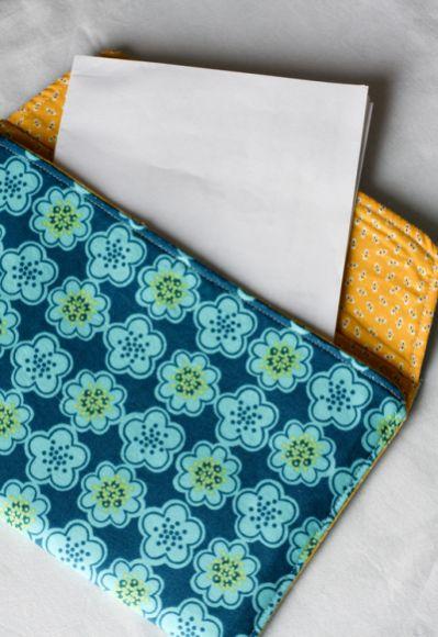 Este envelope de tecido é muito fácil de ser feito, até mesmo para quem não tem muita habilidade cm costura (Foto: Divulgação)