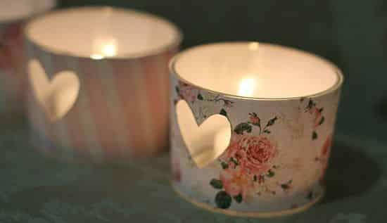 Este porta-velas romântico arrancará muitos elogios de seus convidados (Foto: Divulgação)