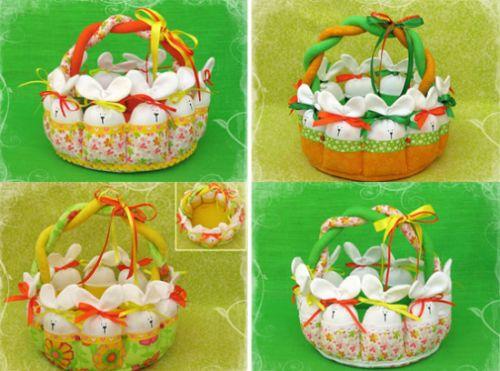 Esta cesta de Páscoa de tecido encanta a todos (Foto: Divulgação)
