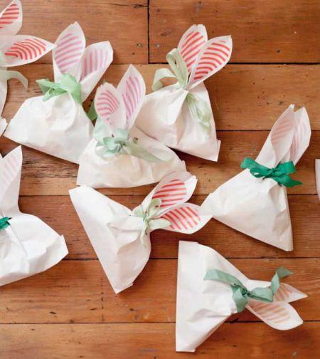Faça esta embalagem de coelho de papel para Páscoa e receba muitos elogios (Foto: divulgação)