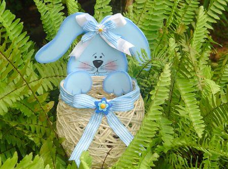 Este ovo de Páscoa com barbante e coelho de Eva pode te render um bom dinheiro nesta Páscoa (Foto: Divulgação)