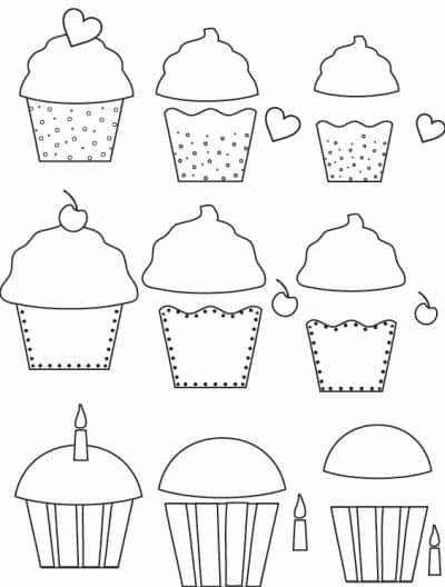 molde cupcake para capa de caderno