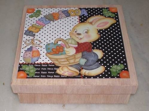 Para fazer caixa de MDF decorada para a Páscoa é muito fácil e divertido (Foto: Divulgação)