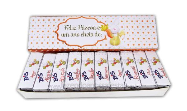 Esta embalagem de Páscoa personalizada é fofa e muito fácil de ser conseguida (Foto: Divulgação)
