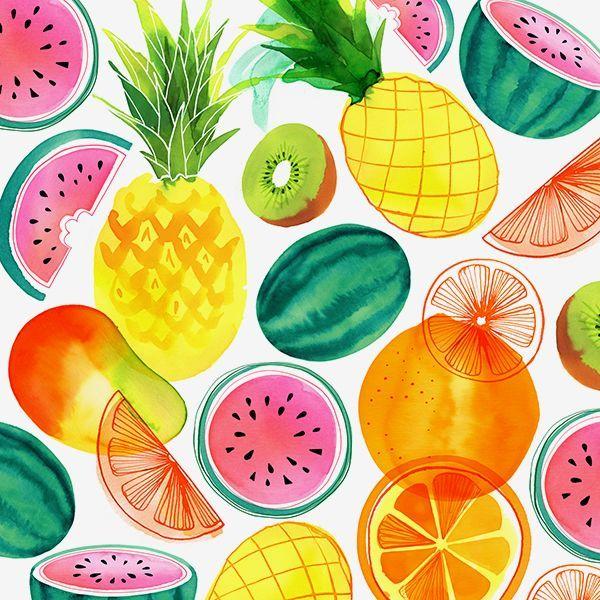 fundo de frutas para caderno de artes
