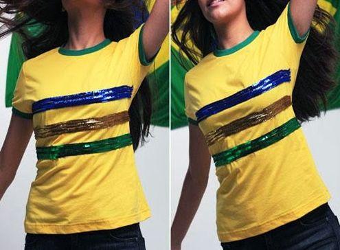 É muito fácil customizar camiseta para Copa do Mundo e você terá uma peça com muito estilo (Foto: Divulgação)