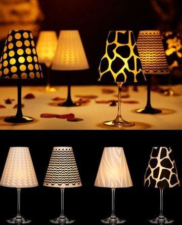 Esta linda luminária com taça é muito fácil de ser feita (Foto: Divulgação)
