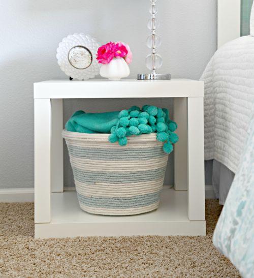 Com esta customização de lixeirinha com corda seu quarto ficará muito mais bonito (Foto: fashioncraft.com.br)