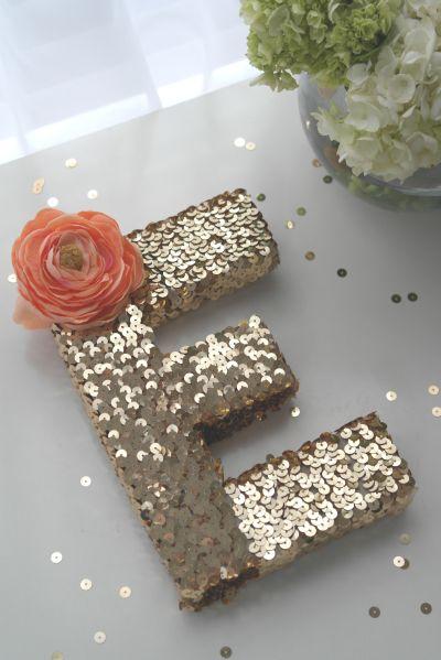 Estas letras 3D com lantejoulas podem ser aplicadas em qualquer ocasião (Foto: catchmyparty.com)