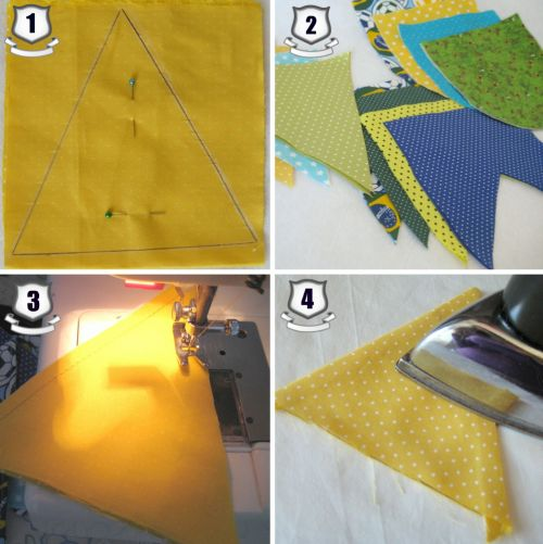 Conhecido Como Fazer Bandeirinhas de Tecido Passo a Passo OW58