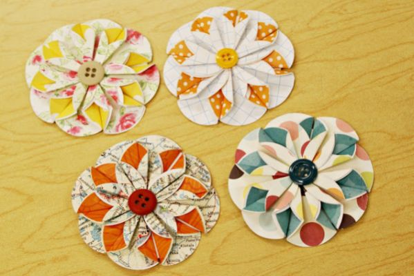 simple art and craft ideas for adults como fazer flor de papel e bot 245 es 8143