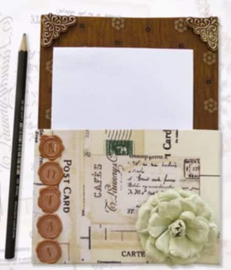 Este porta-recado de geladeira é sofisticado e deixará a sua família em dia com os recados da casa (Foto: tkcrie.blogspot.com.br)
