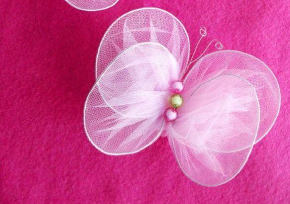 Esta borboleta com tule pode enfeitar o que você quiser (Foto: geteasyfreshideas.com)