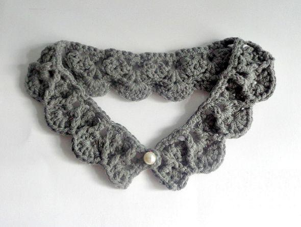 Este colar de crochê vai deixar os sues looks muito mais interessantes e em dia com as últimas e fortes tendências de moda (Foto: beacrafter.com)