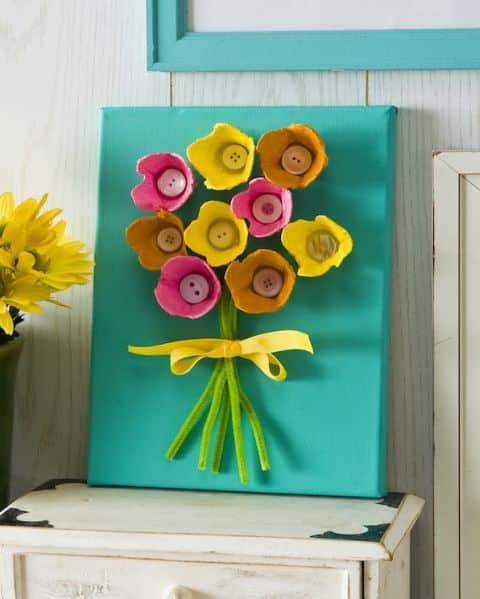 Este quadro com material reciclável pode até ser uma fonte de renda extra, caso você o comercialize (Foto: modpodgerocksblog.com)