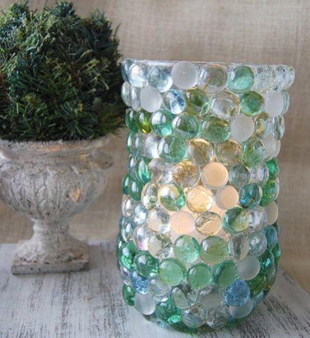 Decorar um vaso com pedras é mais fácil do que você imagina (Foto: creativemeinspiredyou.com)