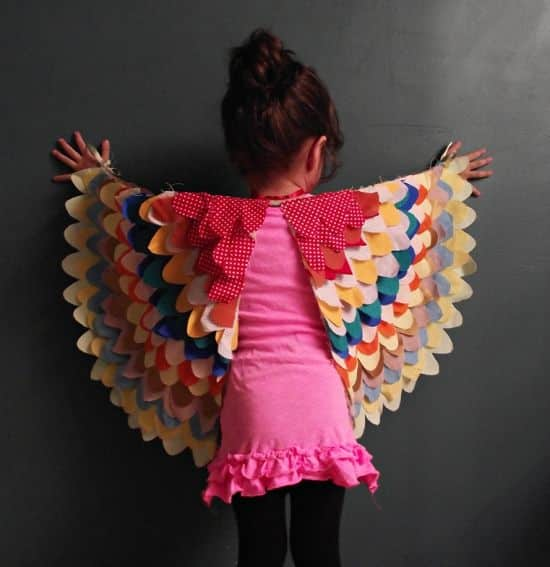 Com estas asas para crianças brincarem os seus filhos vão ficar muito mais animados (Foto: llevoelinvierno.blogspot.com.b)