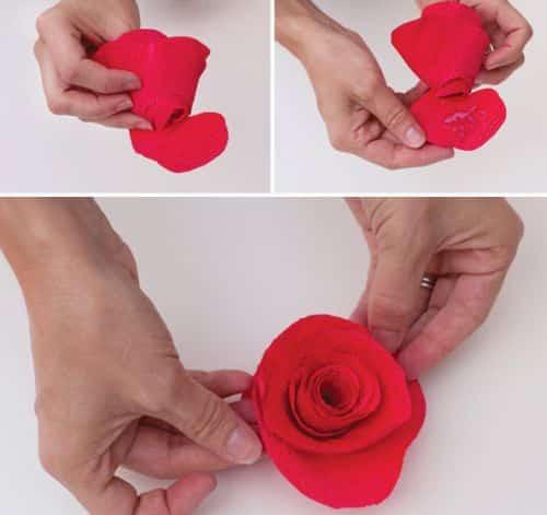Como Fazer Um Buquê Com Rosas De Crepom 51 Como Fazer Artesanatos
