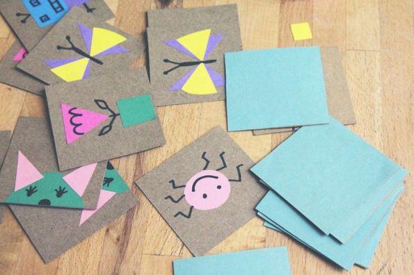 Fazer um jogo da memória em casa pode ser bem divertido se as suas crianças ajudarem (Foto: bkids.typepad.com)